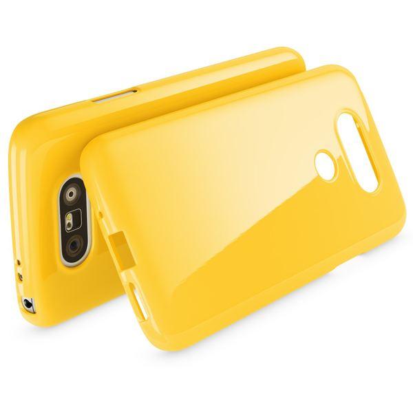 NALIA Handyhülle für LG G5, Ultra-Slim TPU Silikon Jelly Case, Dünnes Cover Gummi Schutzhülle Phone Skin, Etui Handy-Tasche Backcover Bumper LG G 5 Smartphone - Gelb – Bild 2
