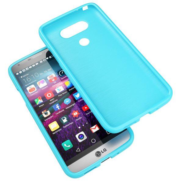 NALIA Handyhülle für LG G5, Ultra-Slim TPU Silikon Jelly Case, Dünnes Cover Gummi Schutzhülle Phone Skin, Etui Handy-Tasche Backcover Bumper LG G 5 Smartphone - Türkis – Bild 6