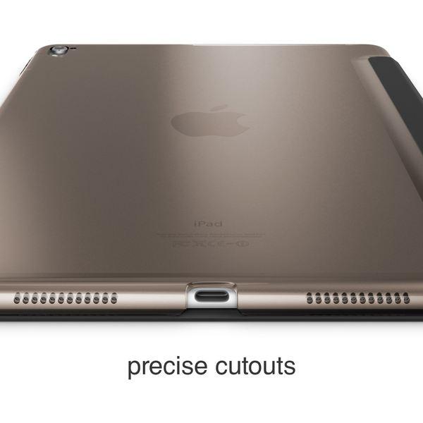 NALIA Smart-Case kompatibel mit iPad Pro 2016 (9,7'), Slim Cover Dünn Tablet Schutzhülle, Kunst-leder Hardcase Multi-Ständer Tasche Display-Schutz& Backcover Flip-Case Klapphülle Sleeve - Schwarz – Bild 5