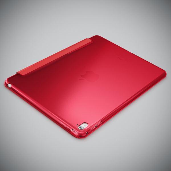 NALIA Smart-Case kompatibel mit iPad Pro 2016 (9,7'), Ultra-Slim Cover Dünn Tablet Schutzhülle, Kunst-leder Hardcase Multi-Ständer Tasche Display-Schutz& Backcover Flip-Case Klapphülle Sleeve - Rot – Bild 3