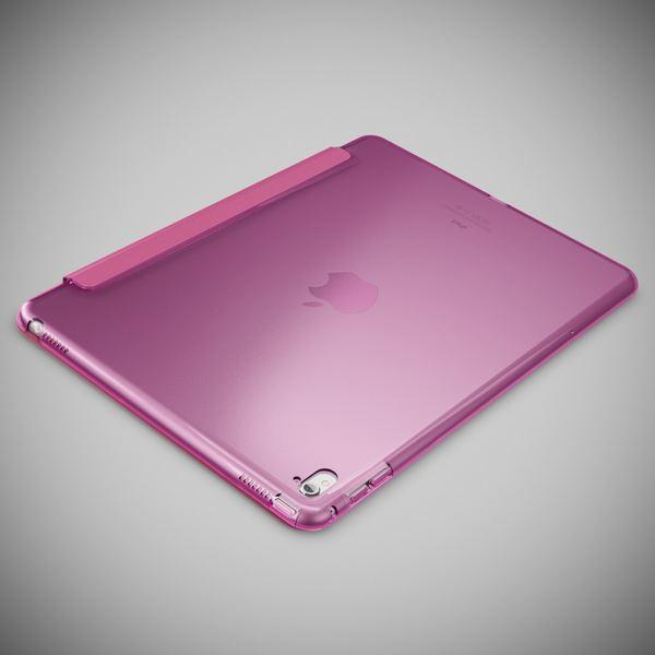 NALIA Smart-Case kompatibel mit iPad Pro 2016 (9,7'), Ultra-Slim Cover Dünn Tablet Schutzhülle, Kunst-leder Hardcase Multi-Ständer Tasche Display-Schutz& Backcover Flip-Case Klapphülle Sleeve - Pink – Bild 3