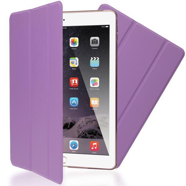 NALIA Smart-Case für Apple iPad Air 2, Ultra-Slim Cover Dünne Tablet Schutzhülle, Kunst-leder Hardcase Multi-Ständer Tasche, Display-Schutz & Backcover Flip-Case Klapphülle Sleeve - Lila – Bild 1