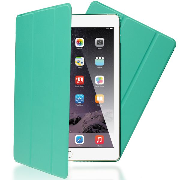 NALIA Smart-Case für Apple iPad Pro, Ultra-Slim Cover Dünne Tablet Schutzhülle, Kunst-leder Hardcase Multi-Ständer Tasche, Display-Schutz & Backcover Flip-Case Klapphülle Sleeve - Türkis – Bild 1