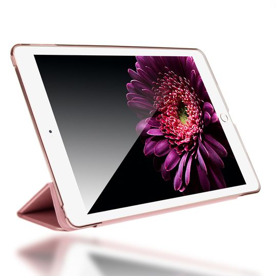 Apple iPad Air 2 Hülle Smart-Case von NALIA, Ultra-Slim Cover Dünne Tablet Schutzhülle, Kunst-leder Hardcase Multi-Ständer Tasche, Display-Schutz & Backcover Flip-Case Klapphülle Sleeve - Rose Gold – Bild 2