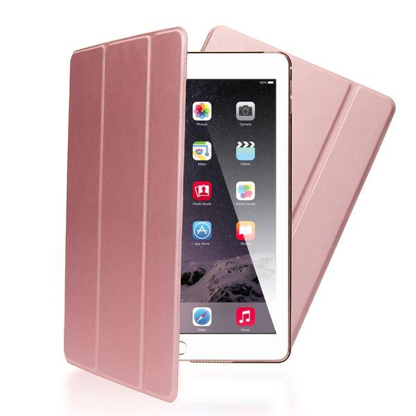 NALIA Smart-Case für Apple iPad Air 2, Ultra-Slim Cover Dünne Tablet Schutzhülle, Kunst-leder Hardcase Multi-Ständer Tasche, Display-Schutz & Backcover Flip-Case Klapphülle Sleeve - Rose Gold – Bild 1