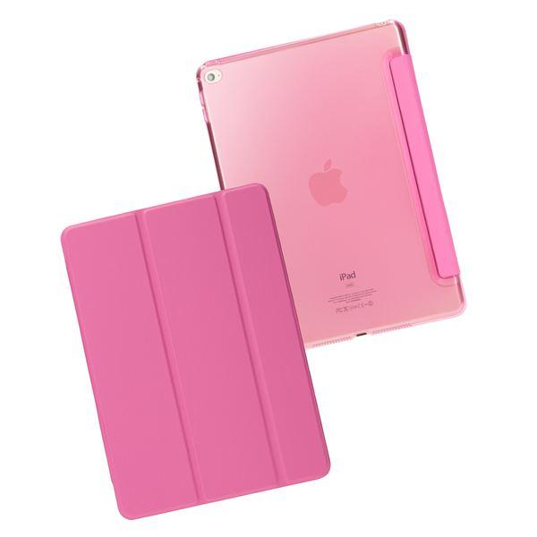 NALIA Smart-Case für Apple iPad Air 2, Ultra-Slim Cover Dünne Tablet Schutzhülle, Kunst-leder Hardcase Multi-Ständer Tasche, Display-Schutz & Backcover Flip-Case Klapphülle Sleeve - Pink – Bild 3