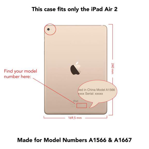 NALIA Smart-Case für Apple iPad Air 2, Ultra-Slim Cover Dünne Tablet Schutzhülle, Kunst-leder Hardcase Multi-Ständer Tasche, Display-Schutz & Backcover Flip-Case Klapphülle Sleeve - Pink – Bild 4