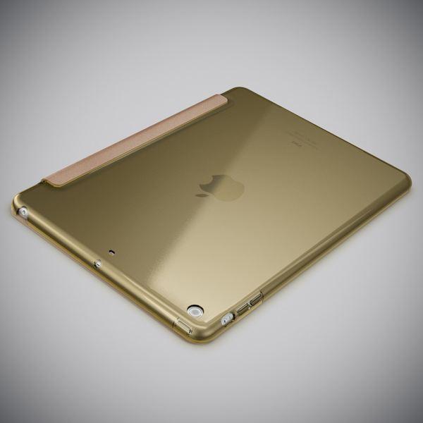 NALIA Smart-Case kompatibel mit iPad Air 1, Ultra-Slim Cover Dünne Tablet Schutzhülle, Kunst-leder Hardcase Multi-Ständer Tasche, Display-Schutz & Backcover Flip-Case Klapphülle Sleeve - Gold – Bild 4