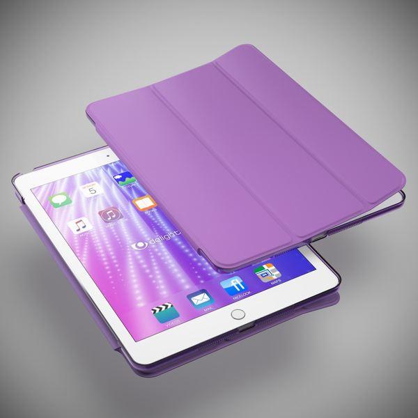 NALIA Smart-Case für Apple iPad Air 1, Ultra-Slim Cover Dünne Tablet Schutzhülle, Kunst-leder Hardcase Multi-Ständer Tasche, Display-Schutz & Backcover Flip-Case Klapphülle Sleeve - Lila – Bild 2