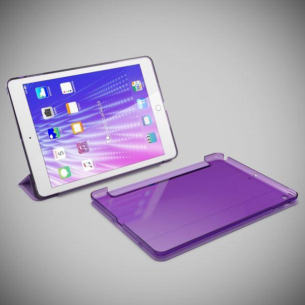 NALIA Smart-Case für Apple iPad Air 1, Ultra-Slim Cover Dünne Tablet Schutzhülle, Kunst-leder Hardcase Multi-Ständer Tasche, Display-Schutz & Backcover Flip-Case Klapphülle Sleeve - Lila – Bild 6