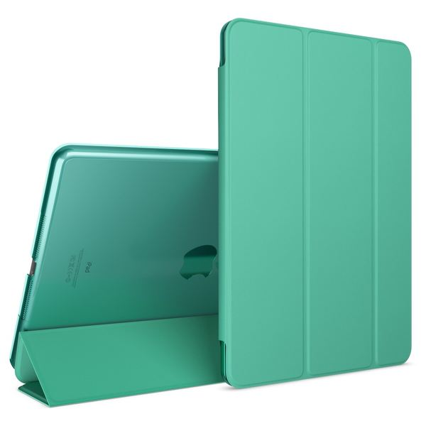 NALIA Smart-Case für Apple iPad Air 1, Ultra-Slim Cover Dünne Tablet Schutzhülle, Kunst-leder Hardcase Multi-Ständer Tasche, Display-Schutz & Backcover Flip-Case Klapphülle Sleeve - Türkis – Bild 1