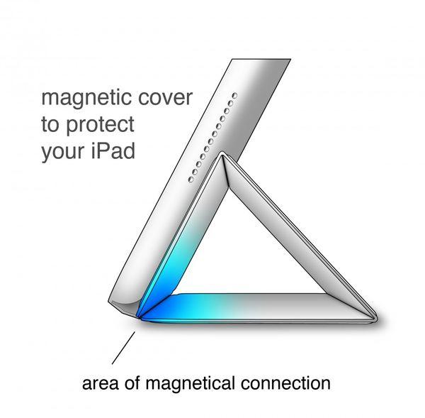 NALIA Smart-Case für Apple iPad Mini 4, Ultra-Slim Cover Dünne Tablet Schutzhülle, Kunst-leder Hardcase Multi-Ständer Tasche, Display-Schutz & Backcover Flip-Case Klapphülle Sleeve - Schwarz – Bild 7