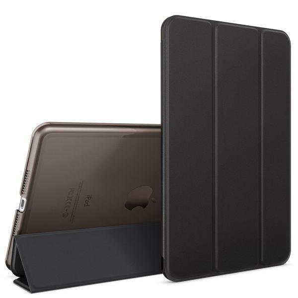 NALIA Smart-Case kompatibel mit iPad Mini 4, Ultra-Slim Cover Dünne Tablet Schutzhülle, Kunst-leder Hardcase Multi-Ständer Tasche, Display-Schutz & Backcover Flip-Case Klapphülle Sleeve - Schwarz – Bild 1