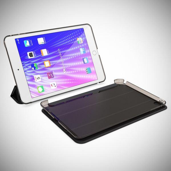NALIA Smart-Case für Apple iPad Mini 4, Ultra-Slim Cover Dünne Tablet Schutzhülle, Kunst-leder Hardcase Multi-Ständer Tasche, Display-Schutz & Backcover Flip-Case Klapphülle Sleeve - Schwarz – Bild 8