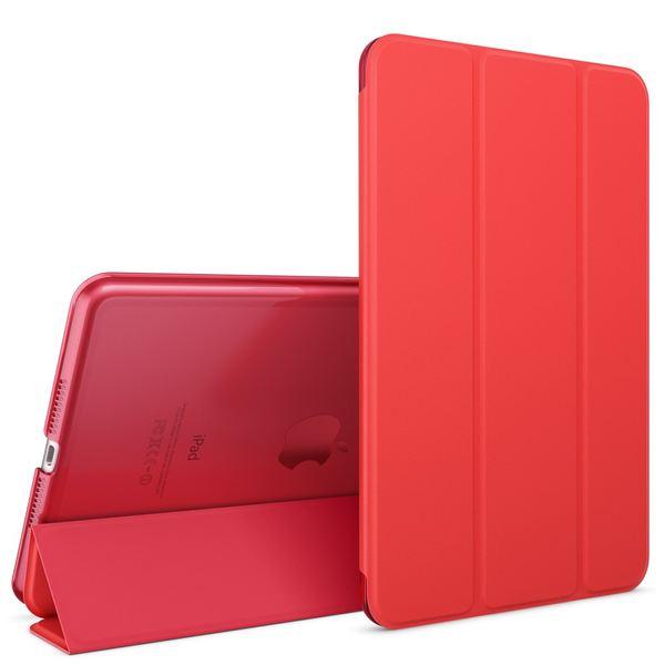 NALIA Smart-Case für Apple iPad Mini 4, Ultra-Slim Cover Dünne Tablet Schutzhülle, Kunst-leder Hardcase Multi-Ständer Tasche, Display-Schutz & Backcover Flip-Case Klapphülle Sleeve - Rot – Bild 1