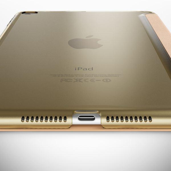 NALIA Smart-Case kompatibel mit iPad Mini 4, Ultra-Slim Cover Dünne Tablet Schutzhülle, Kunst-leder Hardcase Multi-Ständer Tasche, Display-Schutz & Backcover Flip-Case Klapphülle Sleeve - Gold – Bild 5