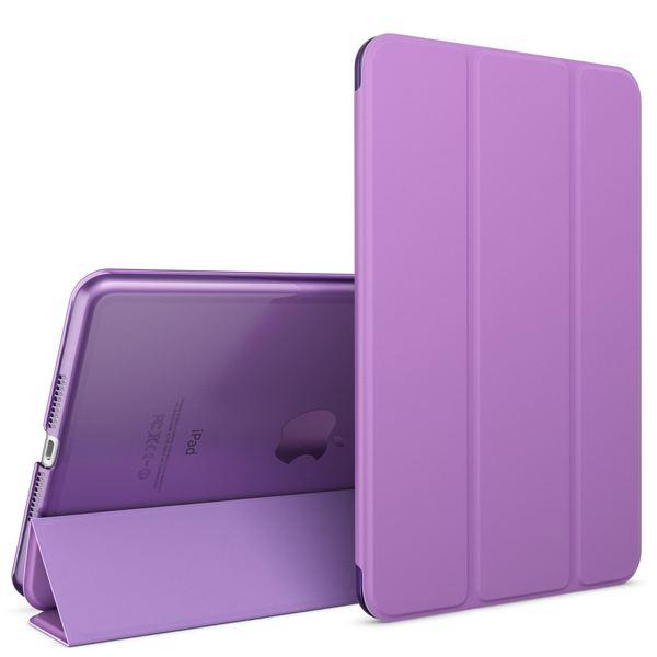 NALIA Smart-Case für Apple iPad Mini 4, Ultra-Slim Cover Dünne Tablet Schutzhülle, Kunst-leder Hardcase Multi-Ständer Tasche, Display-Schutz & Backcover Flip-Case Klapphülle Sleeve - Lila – Bild 1