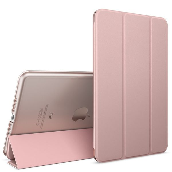 Apple iPad Mini 4 Hülle Smart-Case von NALIA, Ultra-Slim Cover Dünne Tablet Schutzhülle, Kunst-leder Hardcase Multi-Ständer Tasche, Display-Schutz & Backcover Flip-Case Klapphülle Sleeve - Rose Gold – Bild 1