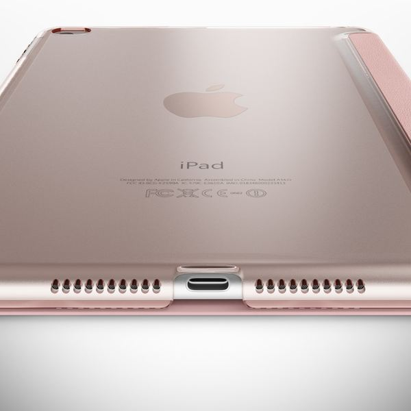 Apple iPad Mini 4 Hülle Smart-Case von NALIA, Ultra-Slim Cover Dünne Tablet Schutzhülle, Kunst-leder Hardcase Multi-Ständer Tasche, Display-Schutz & Backcover Flip-Case Klapphülle Sleeve - Rose Gold – Bild 5