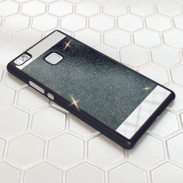NALIA Handyhülle für Huawei P9 Lite, Glitzer Slim Hard-Case Hülle Back-Cover Schutzhülle, Handy-Tasche im Glitter Sparkle Design, Dünnes Bling Strass Stoßfestes Etui für P9Lite Smart-Phone - Schwarz – Bild 4