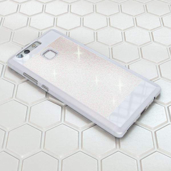 NALIA Handyhülle kompatibel mit Huawei P9, Glitzer Slim Hard-Case Back-Cover Schutzhülle, Handy-Tasche Schale im Glitter Sparkle Design, Dünnes Bling Strass Stoßfestes Etui Smart-Phone Bumper - Weiß – Bild 4