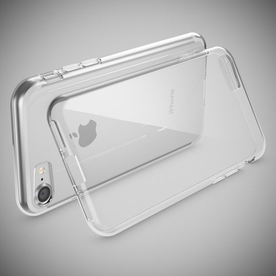 iPhone 8 / 7 Hülle Handyhülle von NICA, Slim Silikon Motiv Case Crystal Schutz Dünn Durchsichtig, Etui Handy-Tasche Back-Cover Transparent Bumper für Apple iPhone 7 / 8 - Transparent – Bild 2