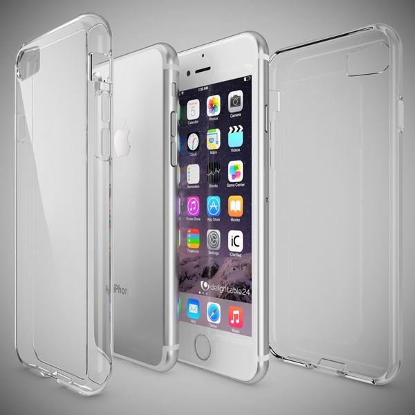 NALIA Handyhülle kompatibel mit iPhone 8 / 7, Slim Silikon Motiv Case Crystal Schutz-Hülle Dünn Durchsichtig, Etui Handy-Tasche Telefon-Schale Back-Cover Transparent Smart-Phone Bumper - Transparent – Bild 5