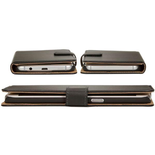 NALIA Klapphülle kompatibel mit Samsung Galaxy S7 Edge, Kunst-Leder Handy Flip-Case Schutzhülle Book-Style Cover, Slim Handyhülle Lederoptik Handy-Tasche Schale Rundum Smart-Phone Schutz - Schwarz – Bild 2