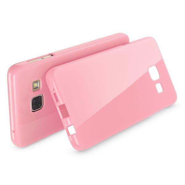 NALIA Handyhülle kompatibel mit Samsung Galaxy A3 2016, Ultra-Slim TPU Silikon Jelly Case Hülle, Dünne Gummi Schutzhülle Skin, Etui Handy-Tasche Telefon-Schale Back-Cover Smart-Phone Bumper - Rosa – Bild 2