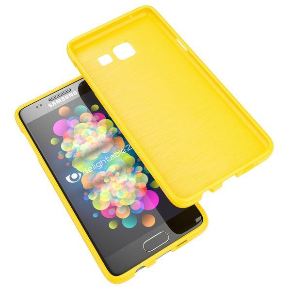 NALIA Handyhülle kompatibel mit Samsung Galaxy A3 2016, Ultra-Slim TPU Silikon Jelly Case Hülle, Dünne Gummi Schutzhülle Skin, Etui Handy-Tasche Telefon-Schale Back-Cover Smart-Phone Bumper - Gelb – Bild 7