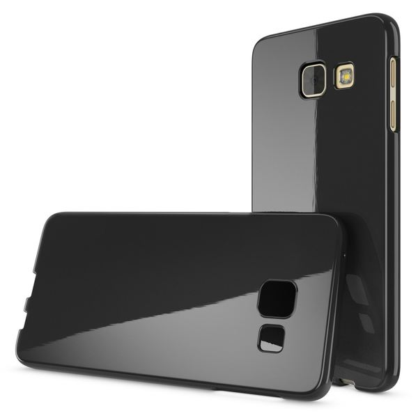 NALIA Handyhülle kompatibel mit Samsung Galaxy A5 2016, Ultra-Slim TPU Silikon Jelly Case Hülle, Dünne Gummi Schutzhülle Skin Etui Handy-Tasche Telefon-Schale Back-Cover Smart-Phone Bumper - Schwarz – Bild 4