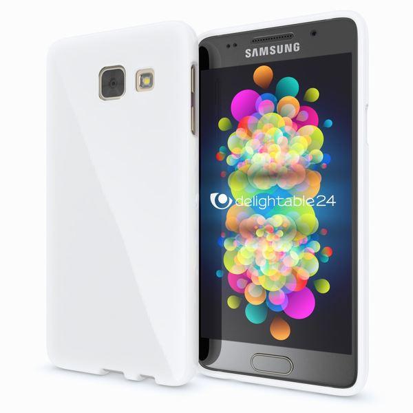 NALIA Handyhülle kompatibel mit Samsung Galaxy A5 2016, Ultra-Slim TPU Silikon Jelly Case Hülle, Dünne Gummi Schutzhülle Skin Etui Handy-Tasche Telefon-Schale Back-Cover Smart-Phone Bumper - Weiß – Bild 1