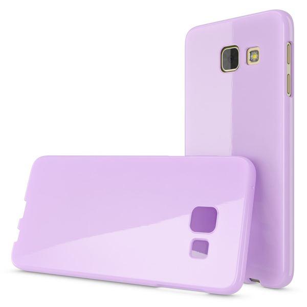 NALIA Handyhülle kompatibel mit Samsung Galaxy A5 2016, Ultra-Slim TPU Silikon Jelly Case Hülle, Dünne Gummi Schutzhülle Skin Etui Handy-Tasche Telefon-Schale Back-Cover Smart-Phone Bumper - Lila – Bild 4