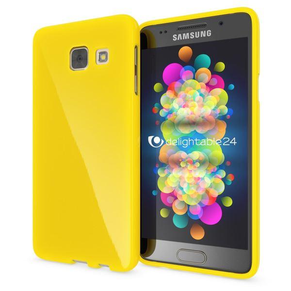 NALIA Handyhülle kompatibel mit Samsung Galaxy A5 2016, Ultra-Slim TPU Silikon Jelly Case Hülle, Dünne Gummi Schutzhülle Skin Etui Handy-Tasche Telefon-Schale Back-Cover Smart-Phone Bumper - Gelb – Bild 1