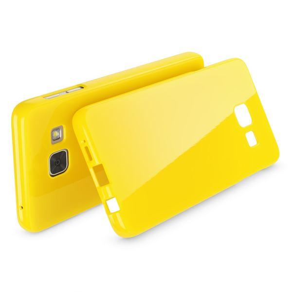 NALIA Handyhülle kompatibel mit Samsung Galaxy A5 2016, Ultra-Slim TPU Silikon Jelly Case Hülle, Dünne Gummi Schutzhülle Skin Etui Handy-Tasche Telefon-Schale Back-Cover Smart-Phone Bumper - Gelb – Bild 2
