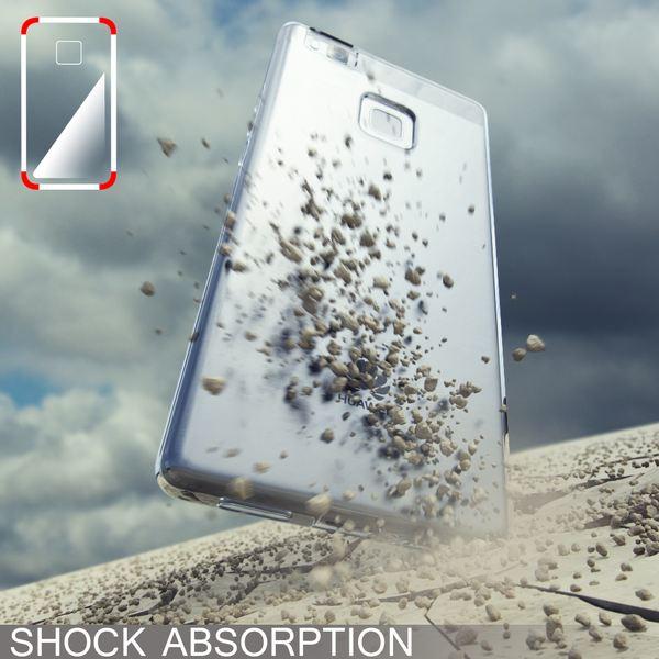 NALIA Handyhülle kompatibel mit Huawei P9 Lite, Ultra-Slim Silikon Case Cover Hülle Dünn Crystal Schutzhülle, Etui Handy-Tasche Schale Back-Cover Bumper Thin TPU Smart-Phone Gummi Hülle - Schwarz – Bild 5