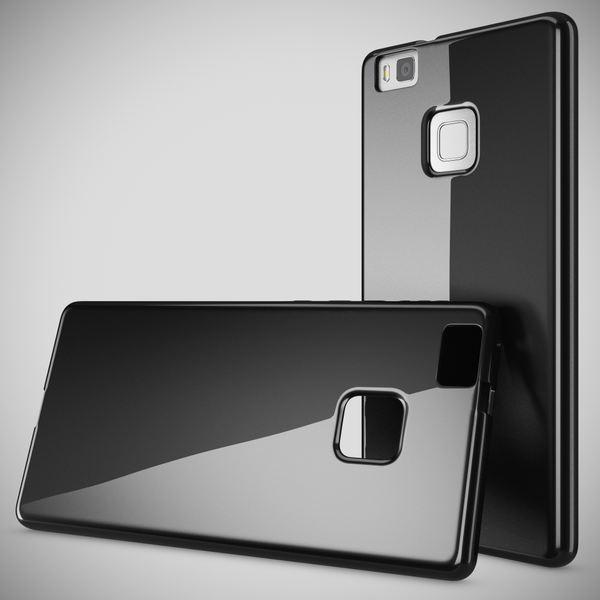 NALIA Handyhülle kompatibel mit Huawei P9 Lite, Ultra-Slim Silikon Case Cover Hülle Dünn Crystal Schutzhülle, Etui Handy-Tasche Schale Back-Cover Bumper Thin TPU Smart-Phone Gummi Hülle - Schwarz – Bild 7