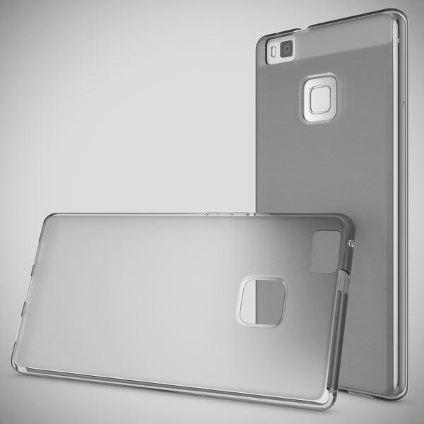 NALIA Handyhülle kompatibel mit Huawei P9 Lite, Ultra-Slim Silikon Case Cover Hülle Dünn Crystal Schutzhülle, Etui Handy-Tasche Schale Back-Cover Bumper TPU Smart-Phone Gummi Hülle - Transparent Grau – Bild 7