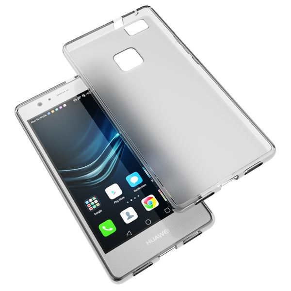 NALIA Handyhülle kompatibel mit Huawei P9 Lite, Ultra-Slim Silikon Case Cover Hülle Dünn Crystal Schutzhülle, Etui Handy-Tasche Schale Back-Cover Bumper TPU Smart-Phone Gummi Hülle - Transparent Grau – Bild 6