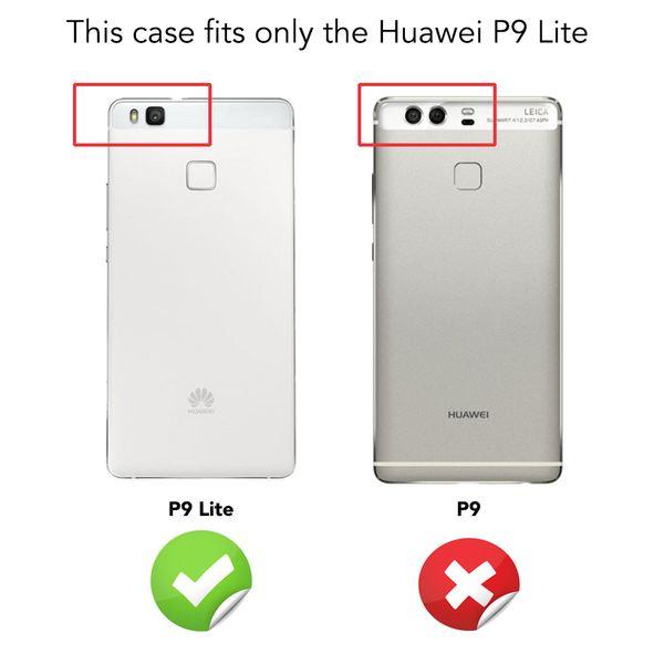 NALIA Handyhülle für Huawei P9 Lite, Ultra-Slim Silikon Case Cover Hülle, Dünne Crystal Schutzhülle, Etui Handy-Tasche Back-Cover Bumper, TPU Gummihülle für P9-Lite Smart-Phone - Matt Schwarz – Bild 4
