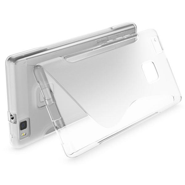 NALIA Handyhülle kompatibel mit Huawei P9 Lite, Ultra-Slim Silikon Case Cover Hülle Dünn Crystal Schutzhülle, Etui Handy-Tasche Back-Cover Bumper Thin TPU Smart-Phone Gummi Hülle - S-Line Transparent – Bild 2