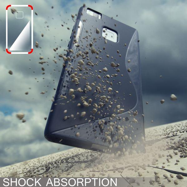 NALIA Handyhülle kompatibel mit Huawei P9 Lite, Ultra-Slim Silikon Case Cover Hülle Dünn Crystal Schutzhülle, Etui Handy-Tasche Back-Cover Bumper Thin TPU Smart-Phone Gummi Hülle - S-Line Transparent – Bild 5