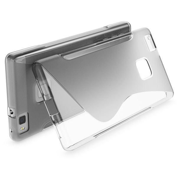 NALIA Handyhülle kompatibel mit Huawei P9 Lite, Ultra-Slim Silikon Case Cover Hülle Dünn Crystal Schutzhülle, Etui Handy-Tasche Schale Back-Cover Bumper Thin TPU Smart-Phone Gummi Hülle - S-Line Grau – Bild 2