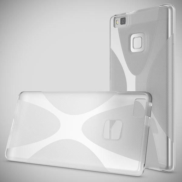 NALIA Handyhülle kompatibel mit Huawei P9 Lite, Ultra-Slim Silikon Case Cover Hülle Dünn Crystal Schutzhülle, Etui Handy-Tasche Back-Cover Bumper Thin TPU Smart-Phone Gummi Hülle - X-Line Transparent – Bild 7