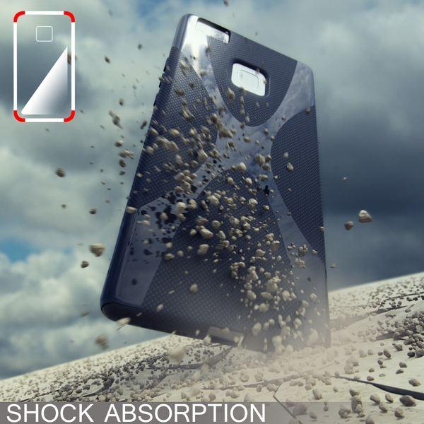NALIA Handyhülle für Huawei P9 Lite, Ultra-Slim Silikon Case Cover Hülle, Dünne Crystal Schutzhülle, Etui Handy-Tasche Back-Cover Bumper, TPU Gummihülle für P9-Lite Smart-Phone - X-Line Schwarz – Bild 5