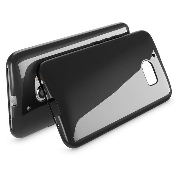 NALIA Handyhülle kompatibel mit HTC 10, Ultra-Slim Silikon Case Cover, Dünne Crystal Schutzhülle, Etui Handy-Tasche Back-Cover Phone Bumper, TPU Smartphone Gummihülle - Schwarz – Bild 2