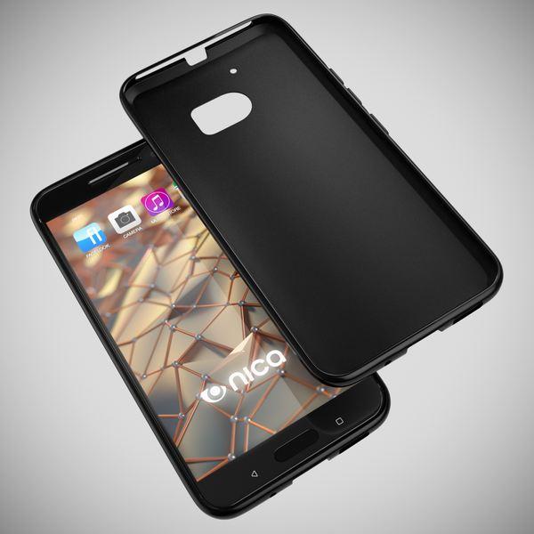NALIA Handyhülle kompatibel mit HTC 10, Ultra-Slim Silikon Case Cover, Dünne Crystal Schutzhülle, Etui Handy-Tasche Back-Cover Phone Bumper, TPU Smartphone Gummihülle - Schwarz – Bild 3