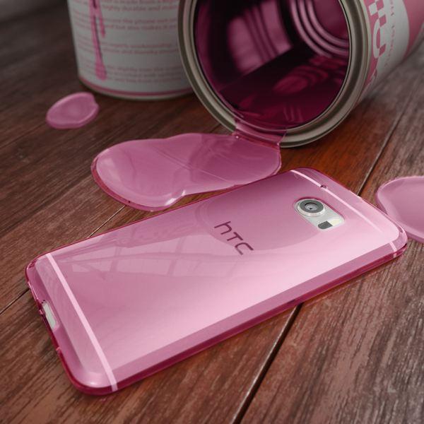 NALIA Handyhülle für HTC 10, Ultra-Slim Silikon Case Cover, Dünne Crystal Schutzhülle, Etui Handy-Tasche Back-Cover Phone Bumper, TPU Gummihülle für HTC10 Smartphone - Transparent Pink – Bild 4