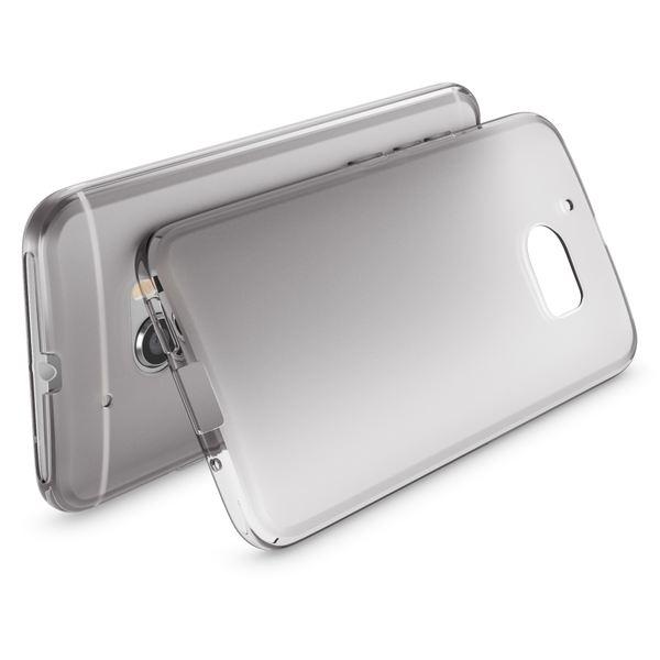 NALIA Handyhülle kompatibel mit HTC 10, Ultra-Slim Silikon Case Cover, Dünne Crystal Schutzhülle, Etui Handy-Tasche Back-Cover Phone Bumper, TPU Smartphone Gummihülle - Transparent Grau – Bild 2