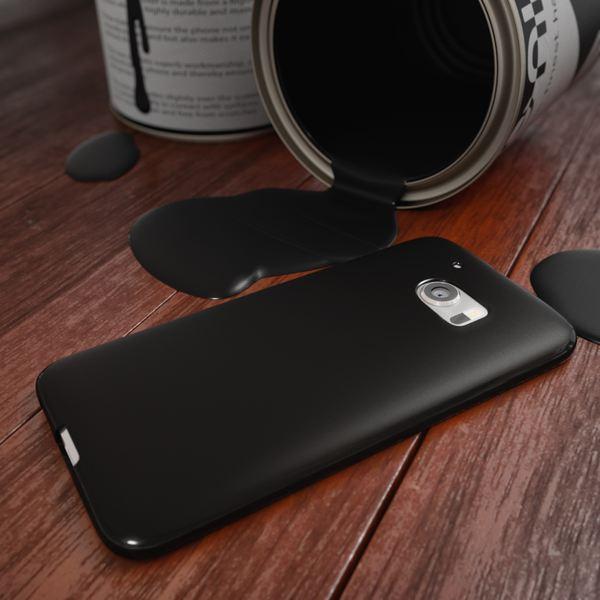 NALIA Handyhülle kompatibel mit HTC 10, Ultra-Slim Silikon Case Cover, Dünne Crystal Schutzhülle, Etui Handy-Tasche Back-Cover Phone Bumper, TPU Smartphone Gummihülle - Matt Schwarz – Bild 4